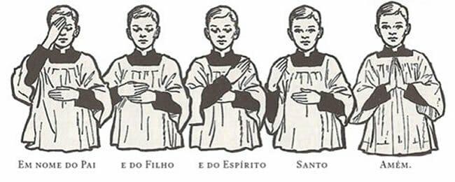 sinal da cruz para os católicos